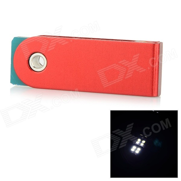 0.8W 100lm 5600K 4-LED White Light USB Mini Night Lamp - Red + Blue the white guard