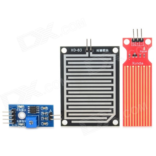 Humidity Detection + Raindrops + Water Sensor Module Set - Blue+Black