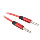 3.5mm Jack Male to Male Audio Cable w/ Microphone - Red + Silver (115cm)