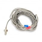 K Type Thermocouple w/ M6 Screw Cable - Silver + Grey (2.88M)