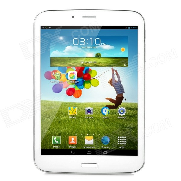 "7.85 ""TFT Dual-Core Android 4.2 3G Tablet PC w / 8GB ROM, Dual-SIM, OTG-bílá"