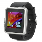 "F1 MTK6260A 1.55"" TFT GSM Smart Watch Phone w/ TF, Bluetooth - Black + Silver"