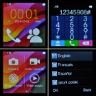 "F1 MTK6260A 1.55"" TFT GSM Smart ur telefon med TF, Bluetooth - Black + sølv"