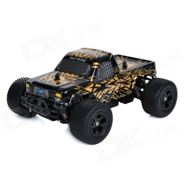 ShenNan 8803G 1:16 3.5-CH 2.4GHz High-Speed Remote Control Off-Load Vehicle Model Toy - Black + Gold