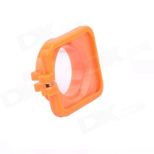 SMJ G-706 Protector Frame Ring Cover w/ 30mm PC Lens for GoPro Hero 3 / 3+ / 4 - Orange