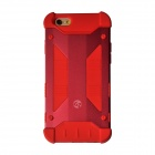 "GeekRover Armor Hybrid Metal + Silicone Case for IPHONE 6 4.7"" - Dark Red + Red"
