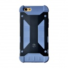 "GeekRover Armor Hybrid Metal + Silicone Case for IPHONE 6 4.7"" - Navy Blue + Light Blue"