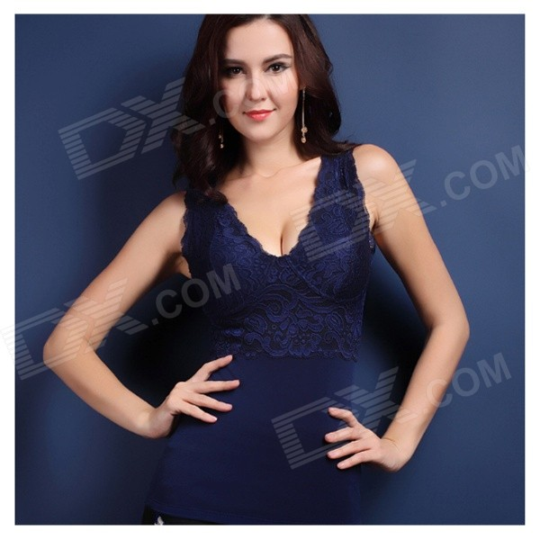 MO-001 Women's Warm Body Shaper Corset Vest - Deep Blue (XXL)