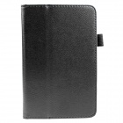 Protective Flip-Open PU Leather Case w/ Stand for Amazon Kindle Fire HD 6 - Black