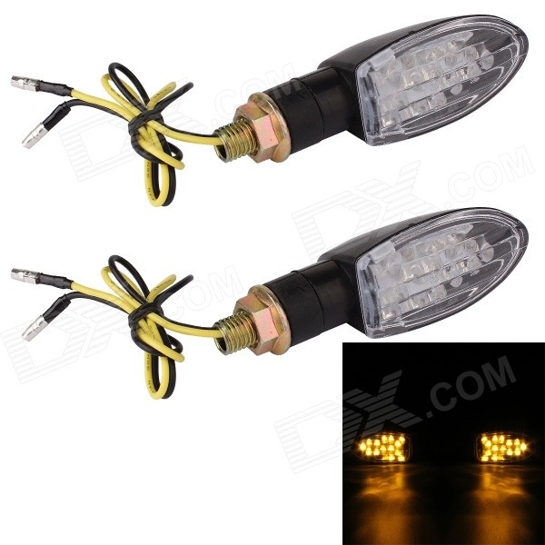 MZ 1W 140LM 9-LED Yellow Light Motorcycle Refit Steering Lamp (Pair / 12V) машина mz бугатти mz 2032f r page 9