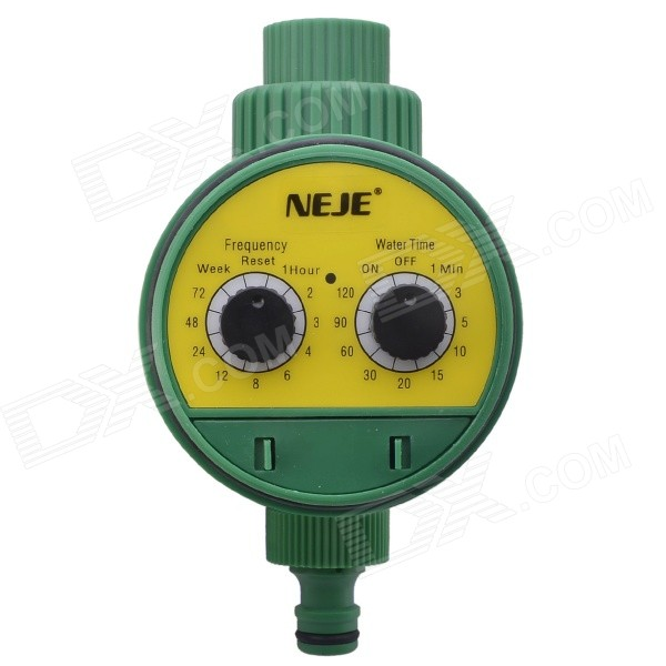 NEJE ZJ0025-3 Electronic Auto Water Timer Watering Irrigation System Controller - Green + Yellow misting nozzles drip irrigation kit automatic watering system with 10m hose