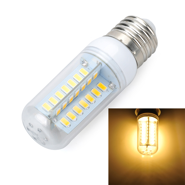 Marsing E27 Cross Design 8W 800lm 3500K 48-SMD 5730 LED Warm White Light Bulb Lamp (AC220~240V) marsing e14 12w 1000lm 3500k 69 smd 5730 led warm white light bulb lamp ac 220 240v