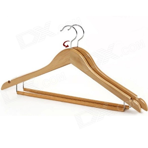 Stylish Solid Maple Arc Style Hanger - Wood Color
