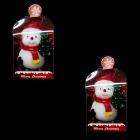 8.CH726A8CZ2AF2-09031753 Snowman & Christmas Tree Style Candles - White + Red (2 PCS)