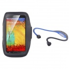 NEJE Water Resistant Armband Case + Hands-free Stereo Headset for Samsung Note 3 / N9006 - Black