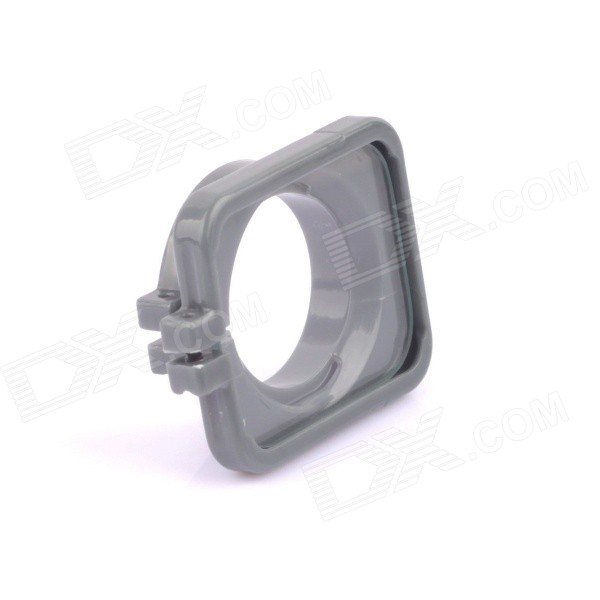 SMJ G-706 Protector Frame Ring Cover w/ 30mm PC Lens for GoPro Hero 3 / 3+ / 4 - Grey