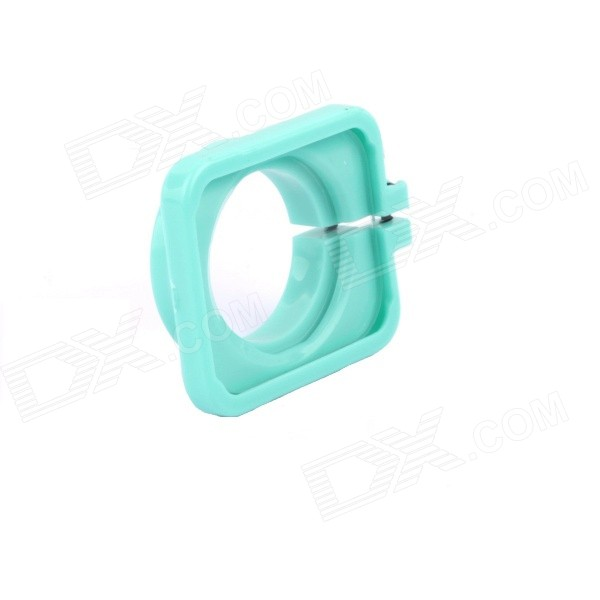 SMJ G-706 Protector Frame Ring Cover w/ 30mm PC Lens for GoPro Hero 3 / 3+ / 4 - Aquamarine