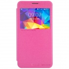 NILLKIN PU + PC Flip Open Case w/ Display Window for Samsung Galaxy Mega 2 - Deep Pink