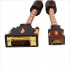 Yellow Knife YK02 HDMI macho a 24 + 1pin DVI Male HD Converter Cable - Naranja + Negro + Marrón (1m)