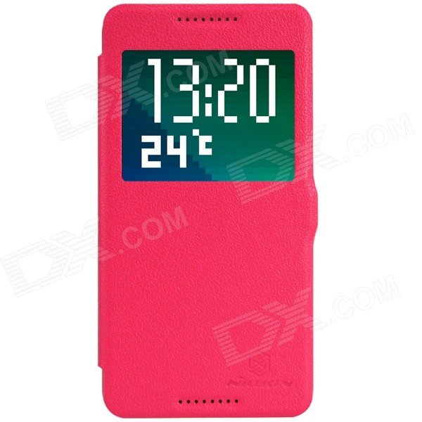 NILLKIN Fresh Series Protective Flip Open PU Leather + PC Case for HTC Desire 820 - Red nillkin protective pu leather pc case cover for htc d316d d516t red