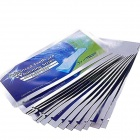 Effective Elastic Gel Teeth Whitening Strips - White + Blue (5 PCS)