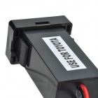 12V~24V to 5V / 2.1A 2-Port USB 2.0 Vehicle Car Power Inverter Converter for Toyota - Black