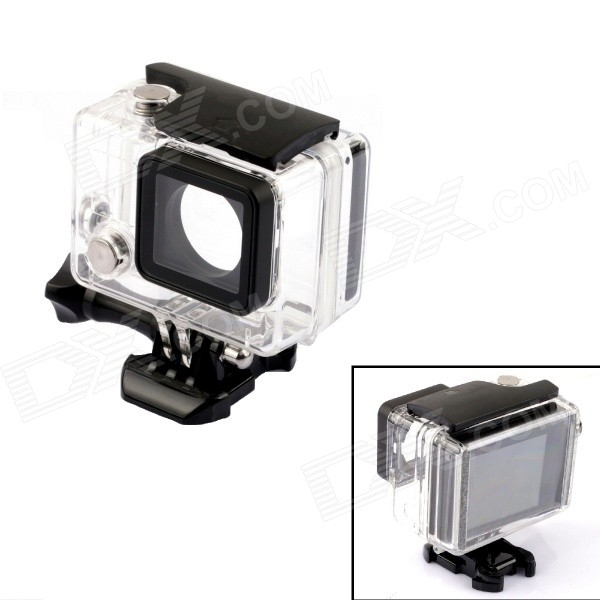 SMJ G-724 Professional Waterproof Camera Housing Case for GoPro 3 / 3+ / 4 - Transparent
