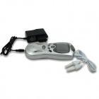 Multifunction Electric 9V 9W Acupuncture Physiotherapy Massager - Silver (4 x AAA)