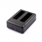 SMJ G-729 Super Mini Dual-Slot Battery Charger for GoPro Hero 4 - Black