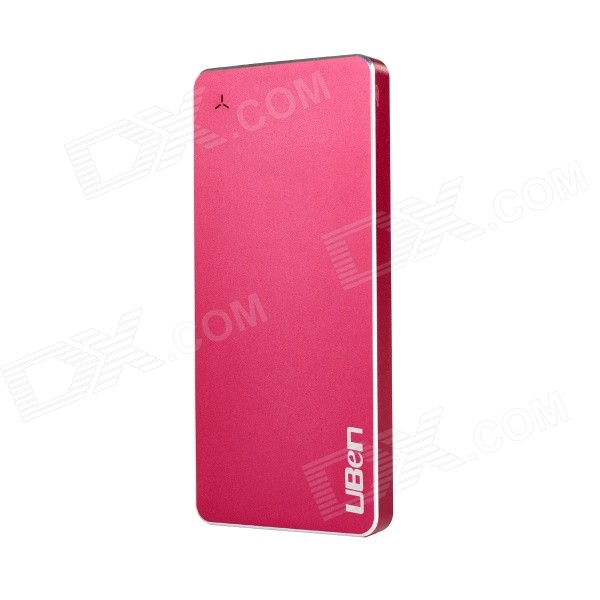 Uben U8 Ultra-thin 6000mAh Aluminum Alloy Li-polymer Battery Charger Power Bank - Red 30a 3s polymer lithium battery cell charger protection board pcb 18650 li ion lithium battery charging module 12 8 16v