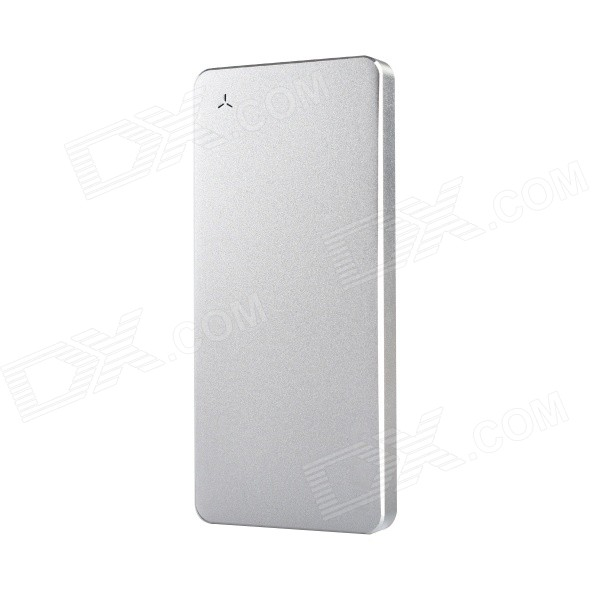 Uben U8 Ultra-thin 6000mAh Aluminum Alloy Li-polymer Battery Charger Power Bank - Silver ultra thin universal 5v 5000mah li polymer battery power bank w led indicator black