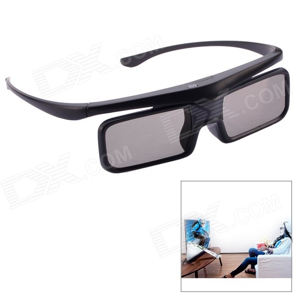 NEJE SZ0053-1 Bluetooth 3D Shutter Active Glasses for 3D Devices - Black
