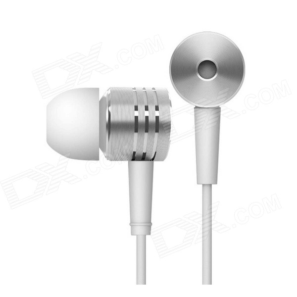 Xiaomi 3.5mm Plug In-ear Earphone w/ Mic. for Xiaomi / IPHONE / IPAD - Silver lobkin active anc headphones bluetooth over ear headphone build in mic for iphone silver