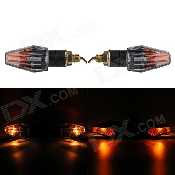 MZ 2W 180LM Halogen Yellow Light Motorcycle Refit Steering Light (Pair / 12V)
