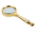BIJIA YT-245 Handheld Zinc Alloy 70mm 8X Magnifier - Golden