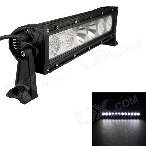GULEEK 60W Type/H 6000K 4200lm 6-Cree LED White Flood + Spot Work Light Bar for Car / Boat guleek 60w type h 4200lm 6000k 6 led white flood spot light worklight bar for car boat