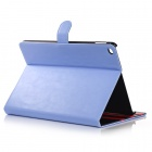 Protective Flip Open PU Leather Case w/ Auto Sleep / Stand / Card Slots for IPAD AIR 2 - Blue