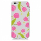 "Kinston Flower Pattern TPU Soft Case for IPHONE 6 Case 4.7"" - Pink + White"