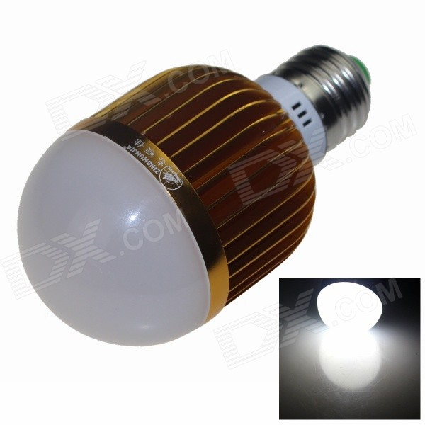 ZHISHUNJIA E27 12W 800lm 6000K 24-SMD 5630 LED White Light Bulb - Gold + White (AC 85~265V) zhishunjia e27 12w 1000lm 3000k 24 smd 5630 led warm white light bulb white gold ac 85 265v