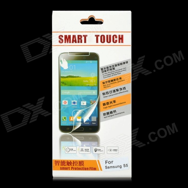 Protective Tempered Glass Smart Screen Guard for Samsung S5 - Transparent - DXScreen Protectors<br>High technology the world&amp;#39;s first intelligent control outside the window touch function - High intelligence can be arbitrarily set outside the window touch keyboard shortcuts - How to use it? 1&amp;gt;. Please use the professional cleaning set and blue screen electrostatic dust-remover to clean the screen first 2&amp;gt;. Tear off the type-1 sticker aim the film to screen holes and edge slowly put the sticker labeled 3&amp;gt;. With the finger gently press the middle part make the film absorption on the screen automatically 4&amp;gt;. With the finger or card tightly press the tiny air bubbles 5&amp;gt;. Scan the QR code download and install the software (Or download the smarttouch Android APP) 6&amp;gt;. Open the software function menu setting the functional shortcut keys<br>