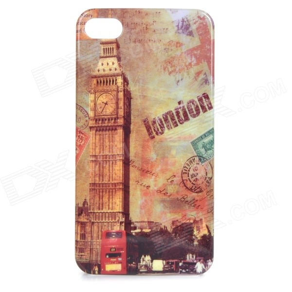 купить British Style Protective ABS Back Case Cover for IPHONE 4 / 4S - Brown + Multicolored недорого