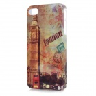 British Style Protective ABS Back Case Cover for IPHONE 4 / 4S - Brown + Multicolored