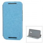 PUDINI WB-PDLG2 PU + PC Flip-Open Case w/ Stand for Motorola MOTO G2 - Blue