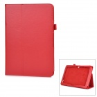 Protective Flip-Open PU Full Body Case Cover w/ Auto Sleep / Stand for ACER A3-A20 - Red