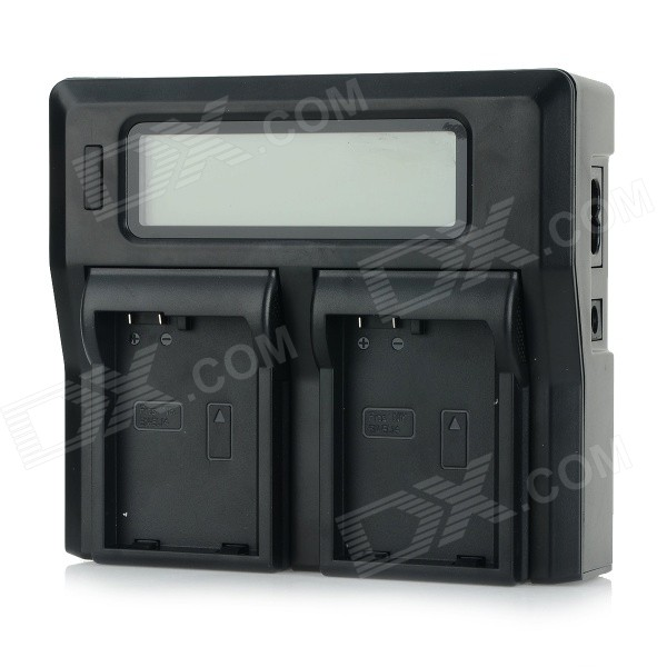 "3"" LCD Dual EN-EL14 Batteries Charger for Nikon D3100 / D3200 / D5100 / P7100 / P7200 - Black"