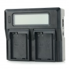 "3"" LCD Dual EN-EL15 Batteries Charger for Nikon D7000 / D800 / D600 / V1 - Black"