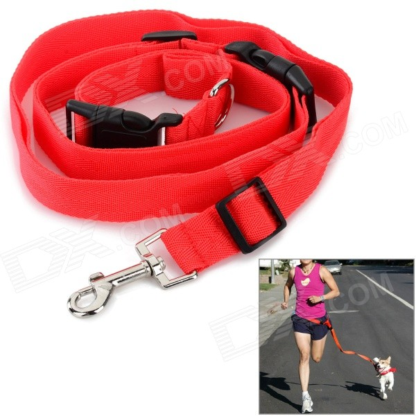 Adjustable Nylon Strap Leash for Pet Dog - Red