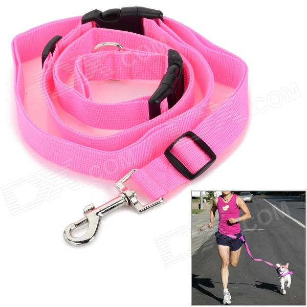 Adjustable Nylon Strap Leash for Pet Dog - Pink цена