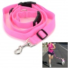 Adjustable Nylon Strap Leash for Pet Dog - Pink