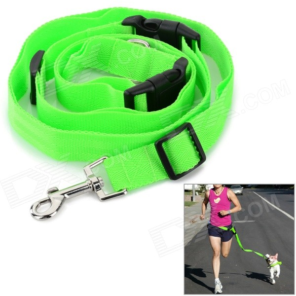 Adjustable Nylon Strap Leash for Pet Dog - Green